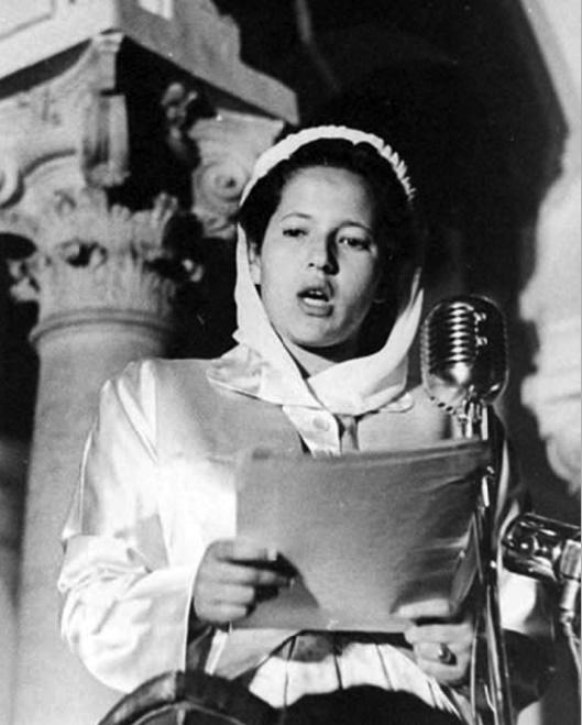 S.A.R la Princesse Lalla Aïcha le 9 avril 1947 à Tanger.