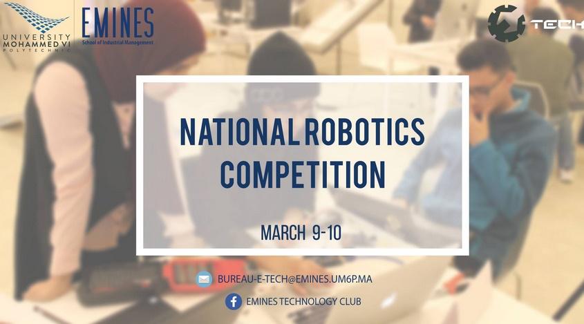 """Des jeunes étudiants en conclave à l'UM6P pour la 1ère édition de """"la National Robotics Competition"""""""