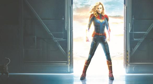 Captain Marvel s'envole en tête du box-office