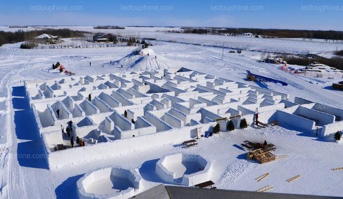 Insolite : Le plus grand labyrinthe de neige du monde
