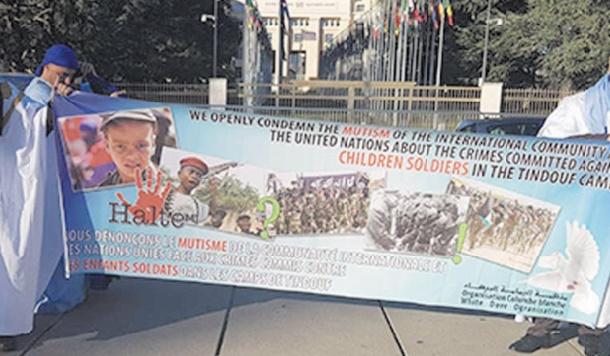 Sit-in à Genève pour dénoncer les crimes commis dans les camps de Tindouf