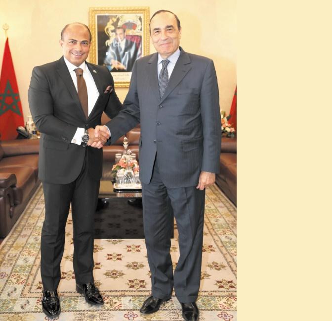 Le président de la Chambre des représentants s'entretient avec l'ambassadeur du Liban à Rabat
