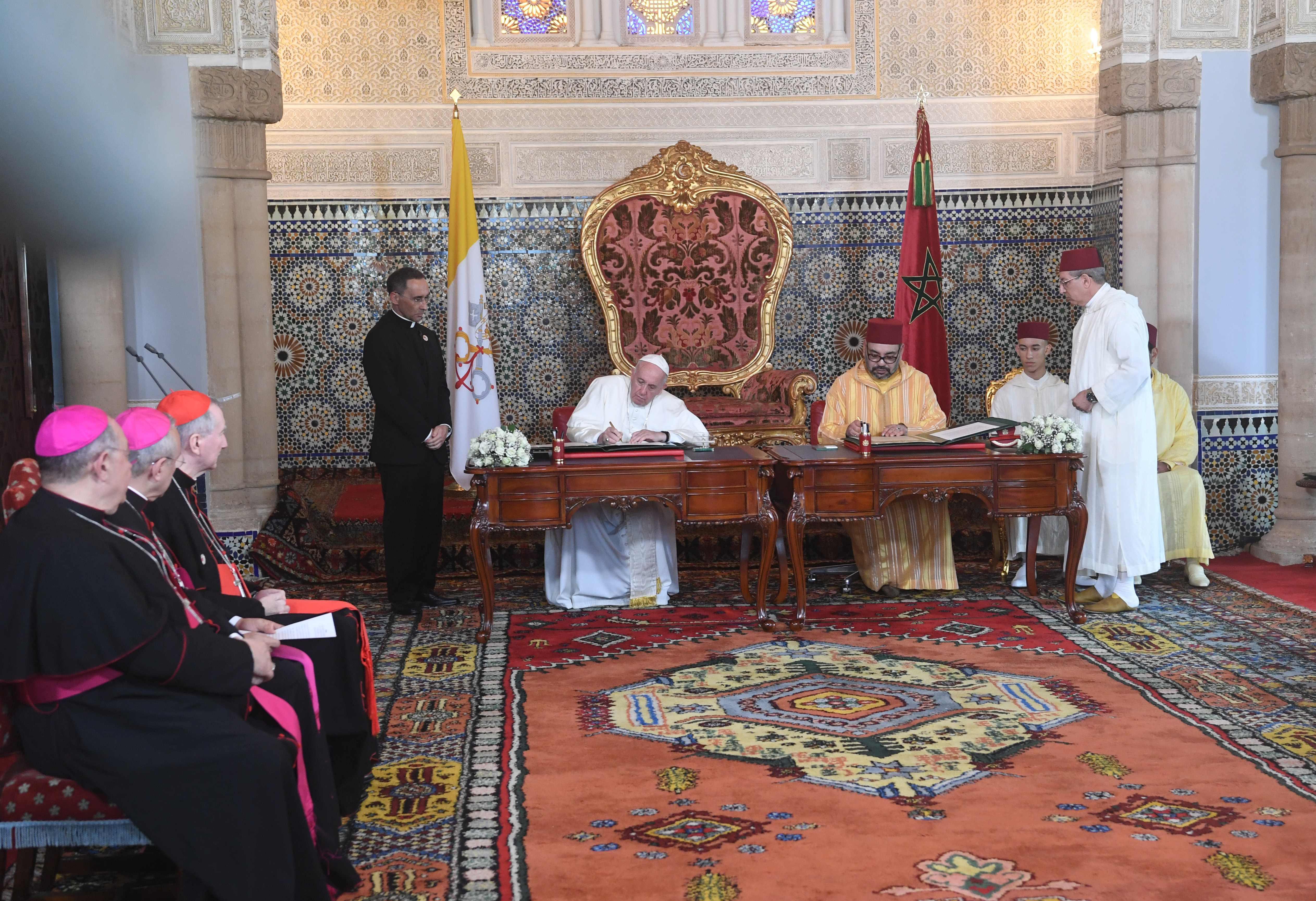 Amir Al-Moumine et S.S le Pape signent l'Appel d'Al Qods