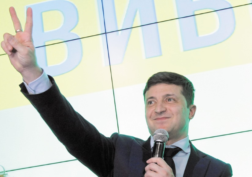 Le comédien Zelensky large vainqueur du 1er tour des présidentielles en Ukraine