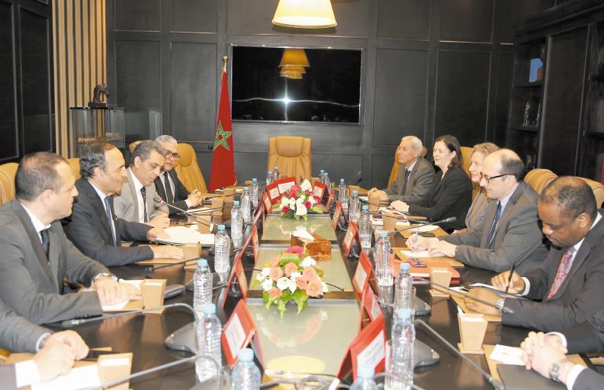 Habib El Malki reçoit une délégation du FMI