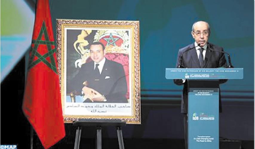 Omar Kabbaj donnant  lecture du message Royal.