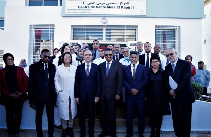 """Inauguration à Témara du centre de santé rural de premier niveau """"Al Mers 2"""""""