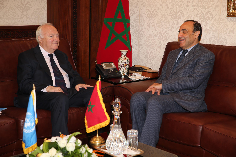 Habib El Malki reçoit le Haut représentant de l'ONU pour l'Alliance des civilisations
