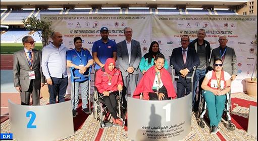 Distinction des athlètes marocains au Meeting international pour personnes handicapées