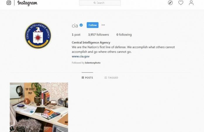 Insolite  : La CIA recrute via Instagram