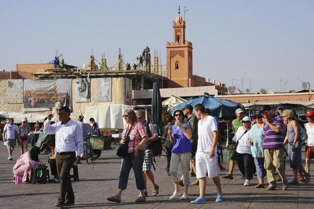 Hausse du nombre  de touristes au Maroc