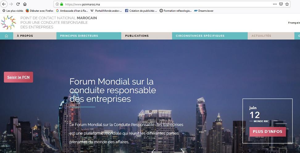 Le PCN pour la conduite responsable des entreprises se dote d'un nouveau site web