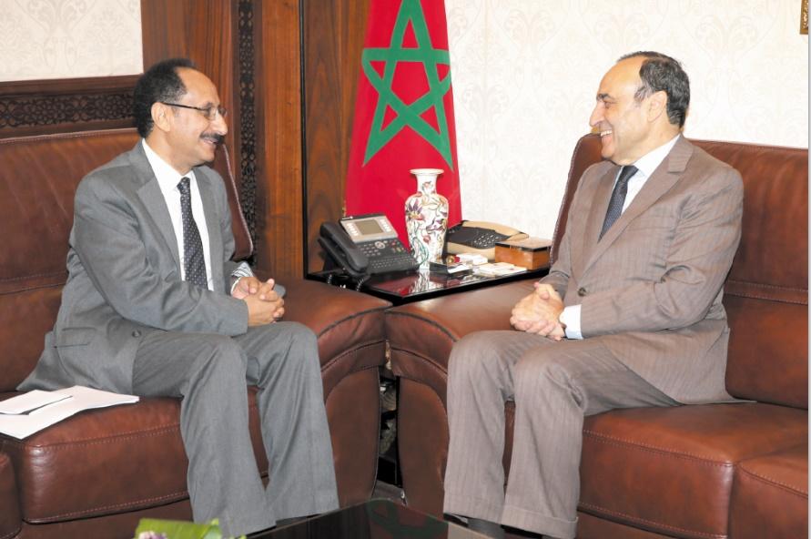 Habib El Malki reçoit l'ambassadeur du Yémen à Rabat