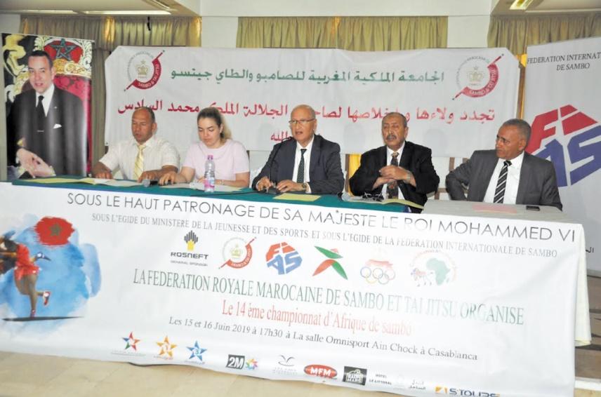 Un plateau relevé au championnat d'Afrique de sambo à Casablanca