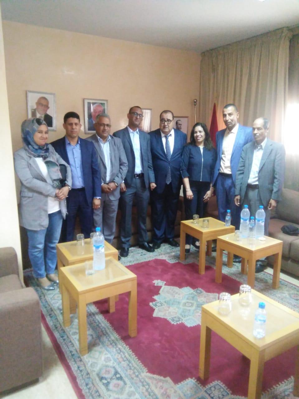 Driss Lachguar reçoit une délégation du Forum  marocain de la démocratie et des droits de l'Homme