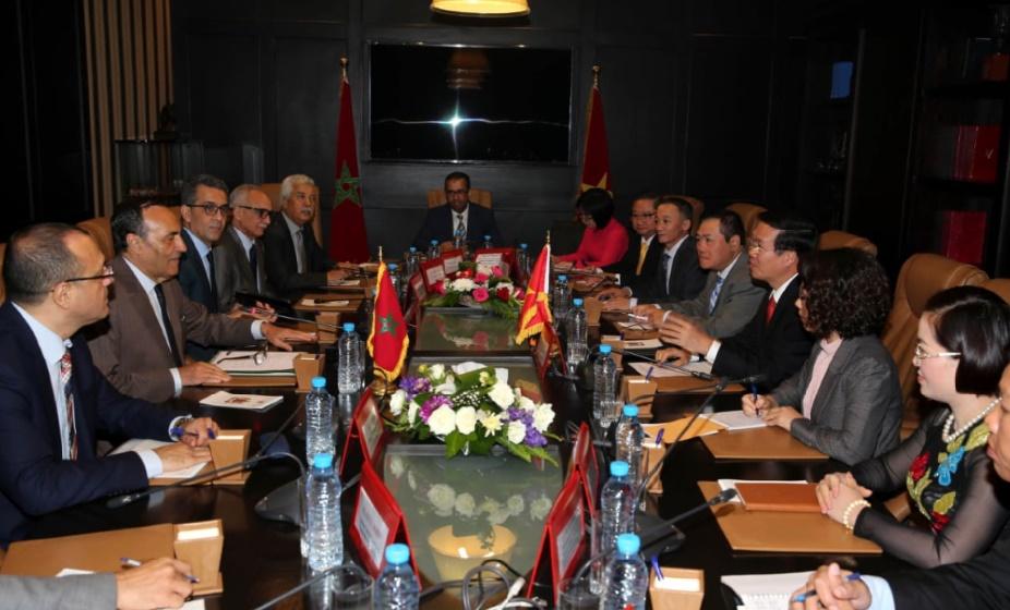 Habib El Malki s'entretient avec Vo Van Thuong