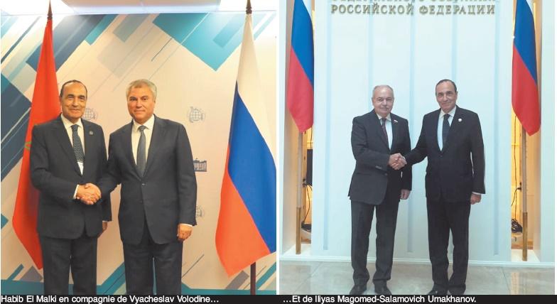 Habib El Malki s'entretient à Moscou avec le président de la Douma et le vice-président du Conseil de la Fédération russe