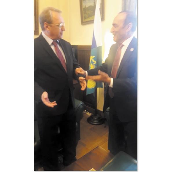 Entretien entre le président de la Chambre des représentants et le conseiller spécial de Vladimir Poutine et vice-ministre russe des Affaires étrangères