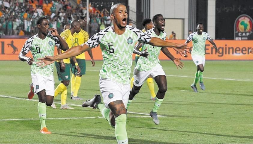 Le Nigeria s'offre les Bafana Bafana et le dernier carré