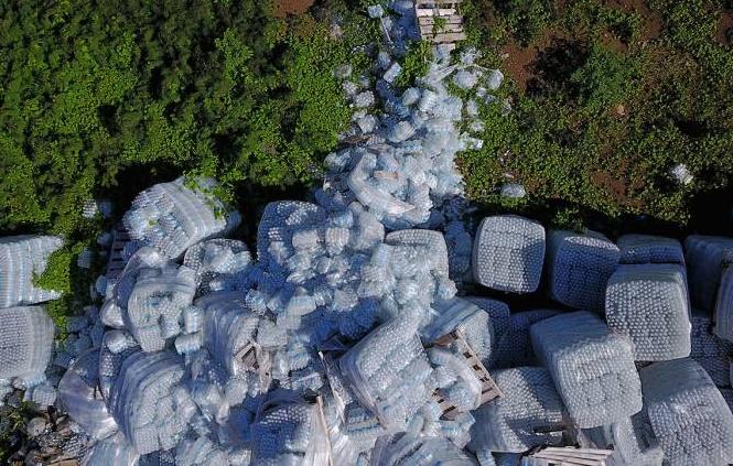 Insolite : Bouteilles d'eau