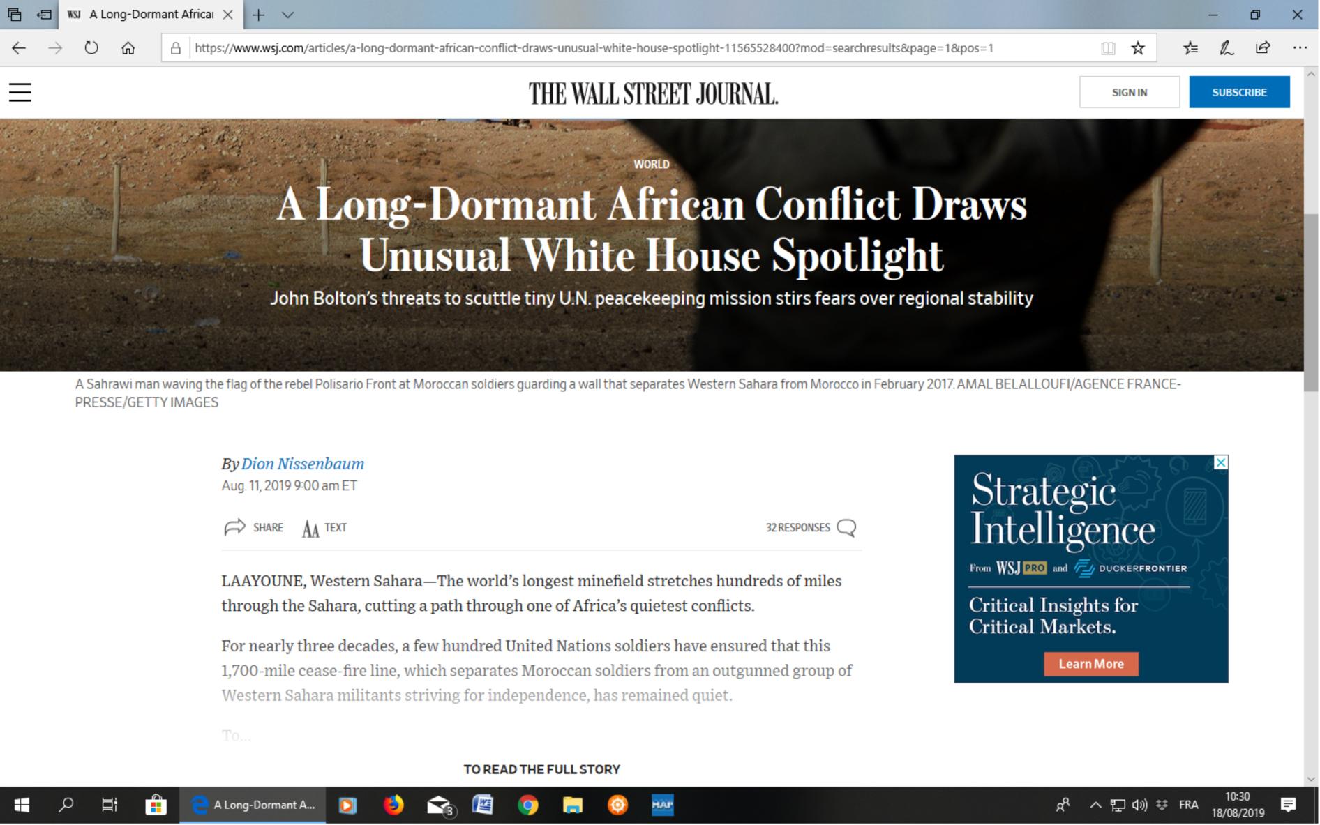 Le Polisario perd de plus en plus pied entre illusions et revers