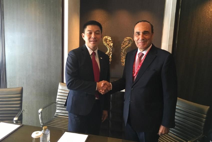 Le président de la Chambre des représentants et Ton Chuan-Jin.