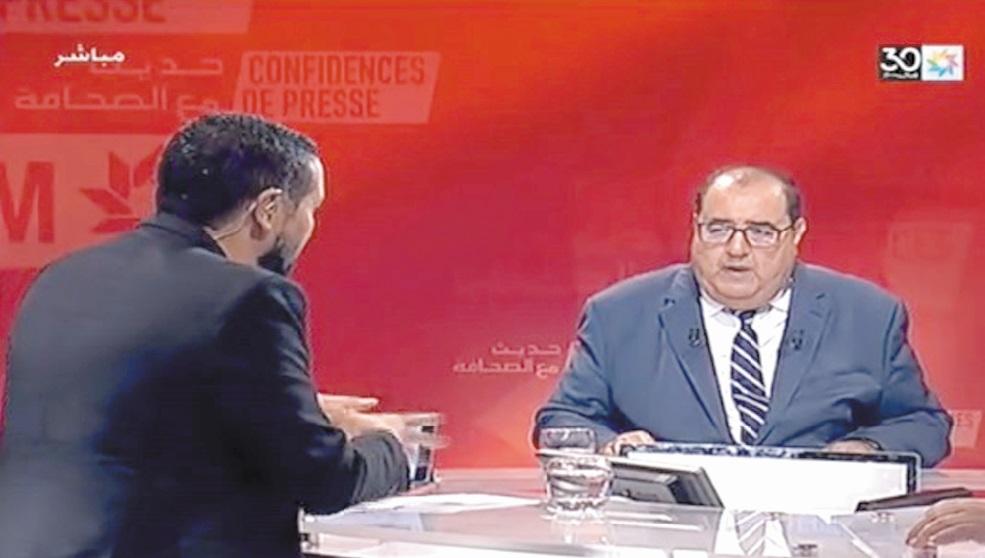 """Driss Lachguar à l'émission """"Confidences de presse"""""""