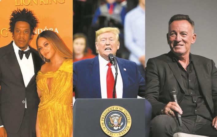 Quand Donald Trump s'en prend à Bruce Springsteen et Beyoncé