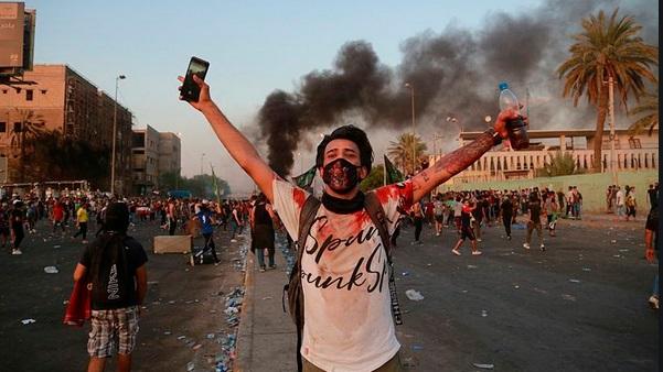 """A Bagdad, la place Tahrir réclame encore """"la chute du régime"""""""