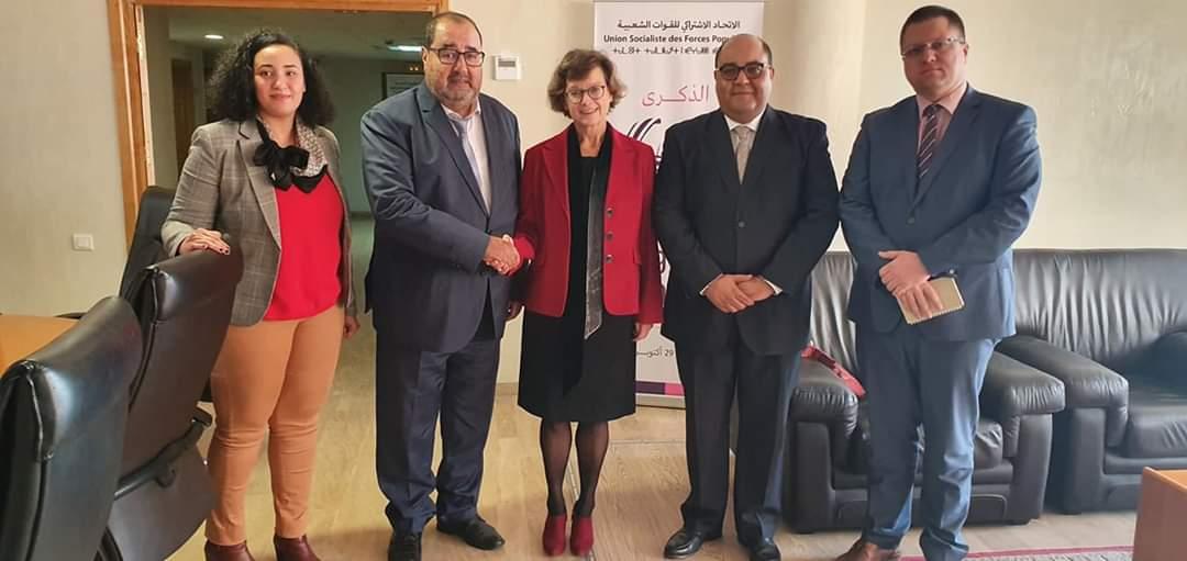 Le Premier secrétaire s'entretient avec l'ambassadrice de l'UE au Maroc
