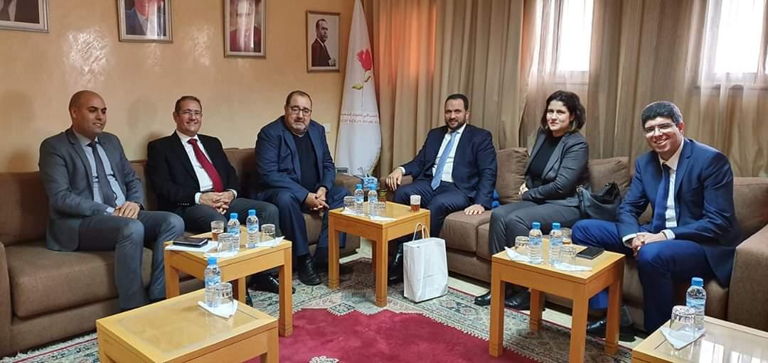 Driss Lachguar reçoit une délégation du gouvernement de la jeunesse marocaine