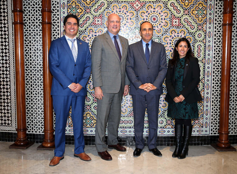 """Habib El Malki reçoit une délégation du """"Regroupement des démocraties"""""""