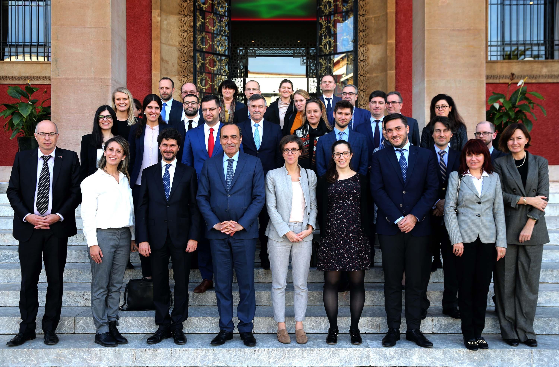 Habib El Malki reçoit une délégation du Conseil de l'UE