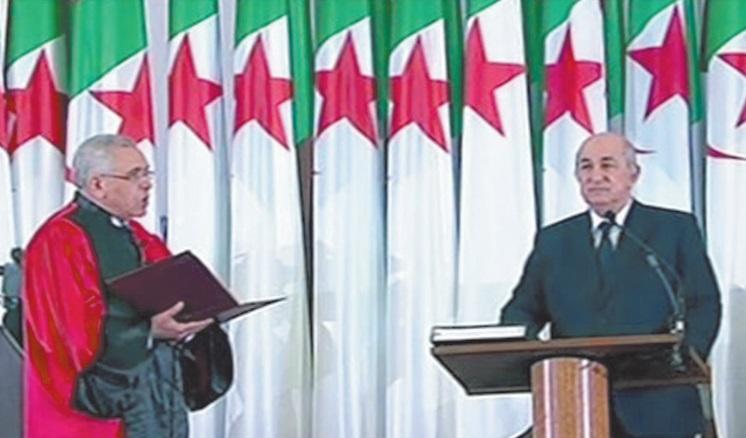 Le président Abdelmajid Tebboune entre en fonction