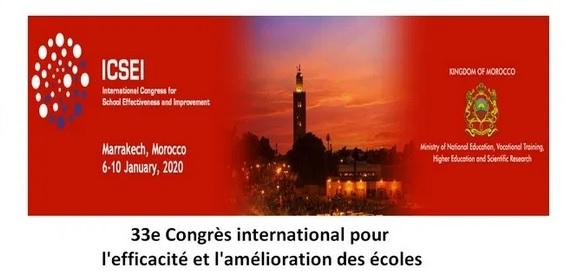 Congrès international pour l'efficacité et l'amélioration de l'école, du 6 au 10 janvier à Marrakech