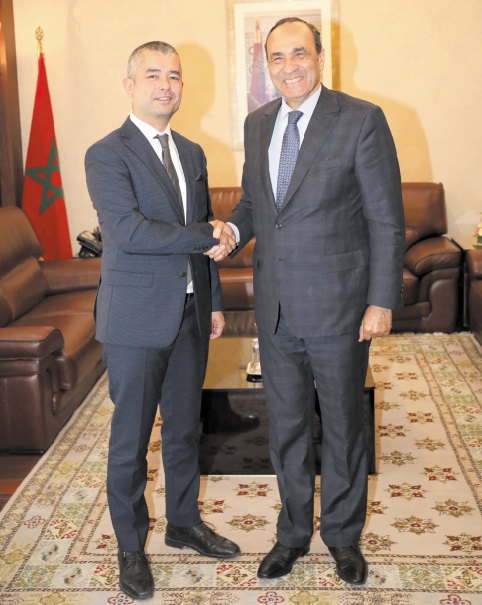 Habib El Malki reçoit le délégué général à Rabat des gouvernements de la Wallonie et de la Fédération Wallonie-Bruxelles