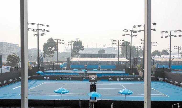 Open d'Australie : Matches retardés à cause des fumées d'incendies