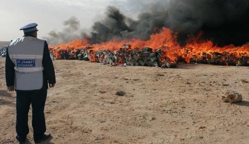 Destruction de drogue et de produits de contrebande estimés à 190 millions de dirhams