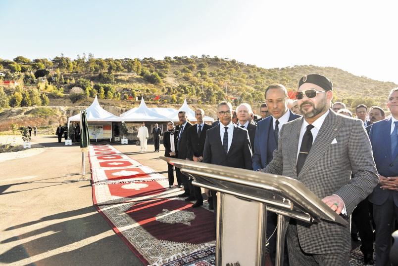 S.M le Roi inaugure le barrage Moulay Abderrahmane