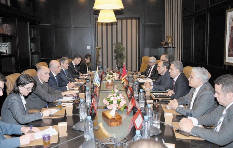 Le président de la Chambre des représentants s'entretient avec le ministre grec des Affaires étrangères