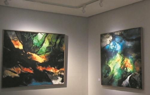 """L'exposition """"Moa et Kim Bennani, parcours croisés"""", une image singulière d'un père et d'un fils peintres"""