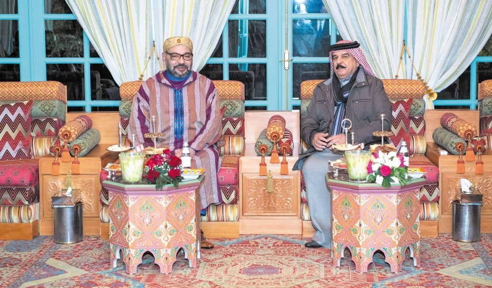 Rencontre entre S.M le Roi et le Souverain du Bahreïn