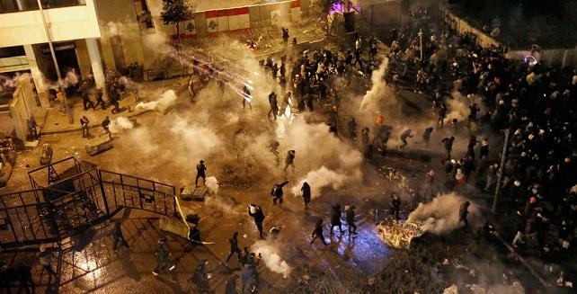Nouvelles violences à Beyrouth  au 100ème  jour de la contestation