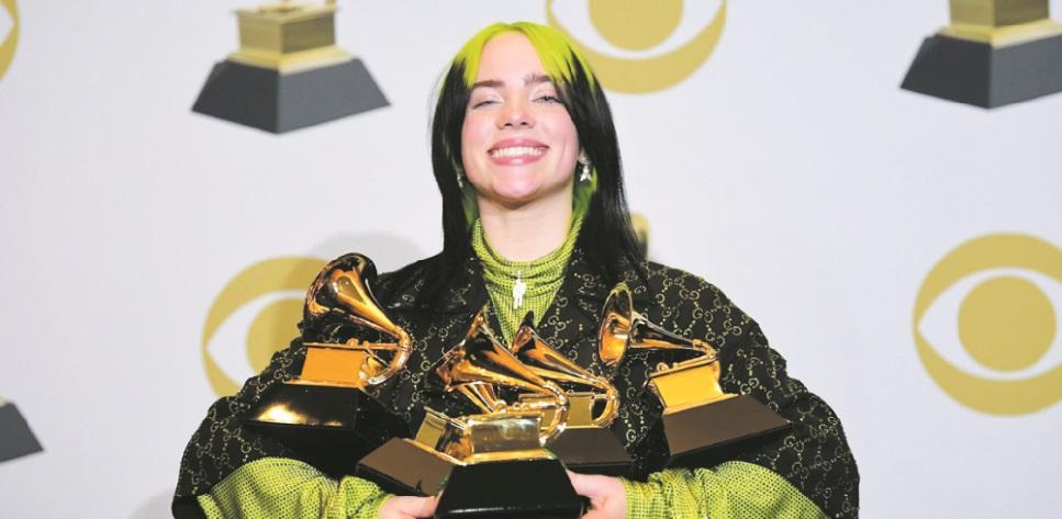 Grand chelem pour la jeune Billie Eilish aux Grammy Awards