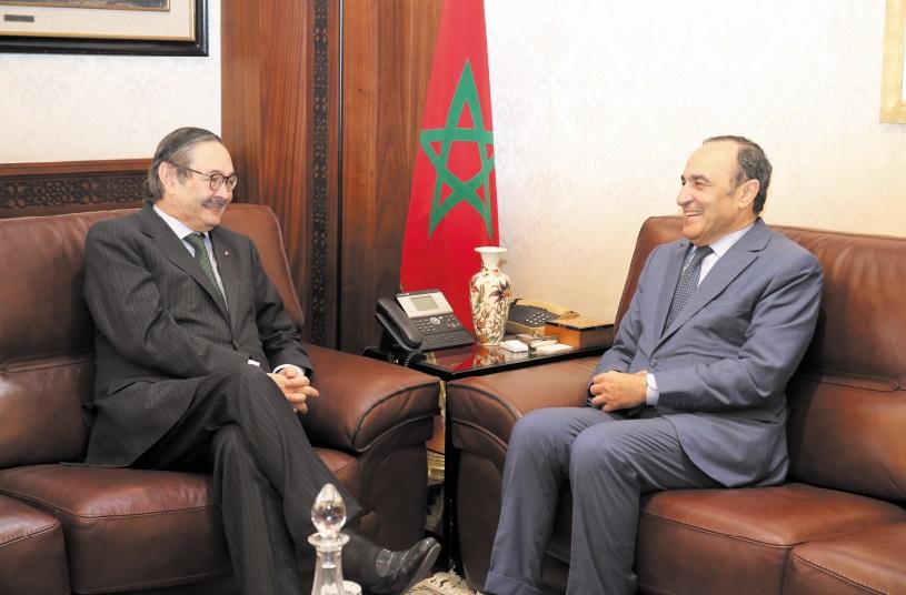 Habib El Malki reçoit Augusto Santos Silva et Ricardo Díez-Hochleitner Rodríguez