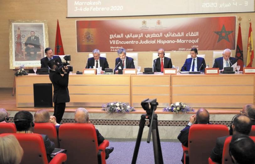 Tenue à Marrakech de la 7ème rencontre judiciaire maroco-espagnole