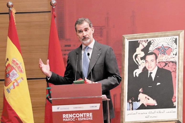 S.M le Roi Felipe VI d'Espagne souligne l'excellence des relations hispano-marocaines