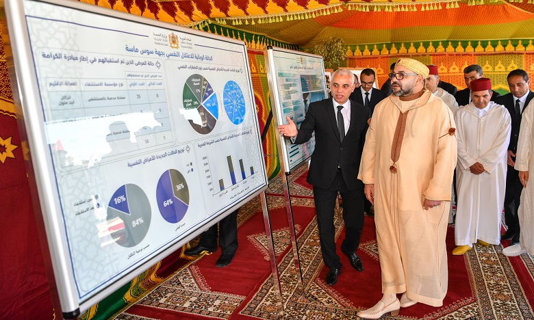 S.M le Roi lance les travaux de construction de l'Hôpital psychiatrique d'Agadir