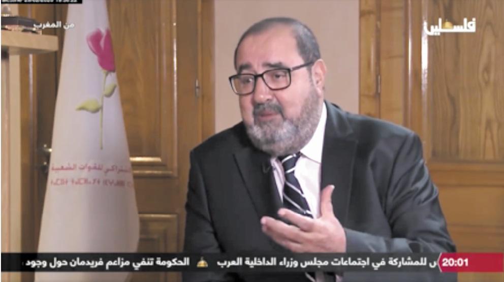 """Dans un entretien accordé à la chaîne """"Palestine Ikhbaria""""  Driss Lachguar : La cause palestinienne est la priorité des priorités"""