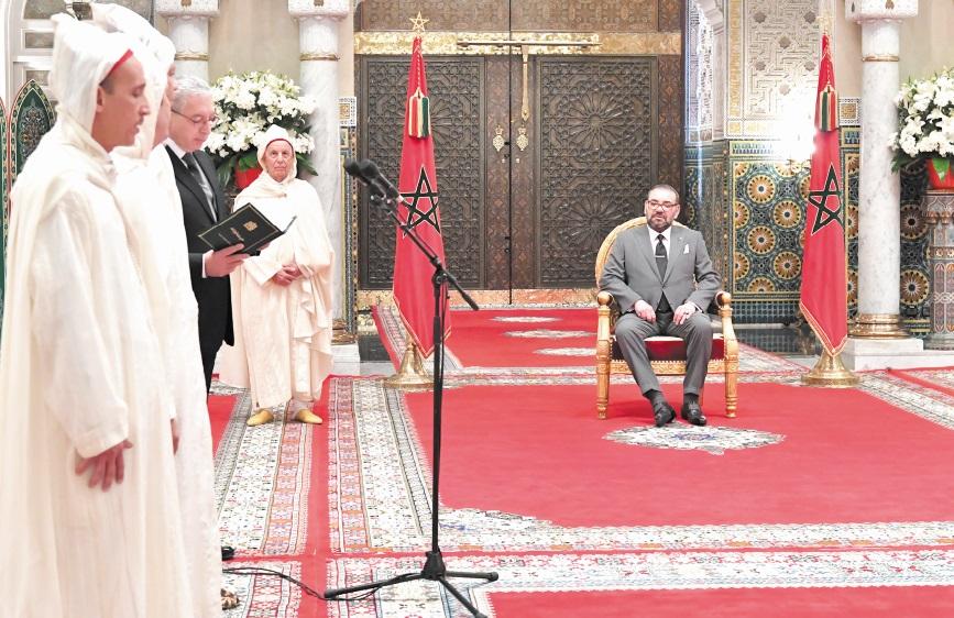 S.M le Roi reçoit les nouveaux membres de la Cour constitutionnelle